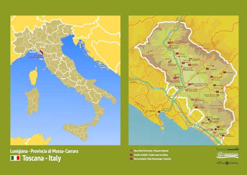 Mappa della Lunigiana AOTL