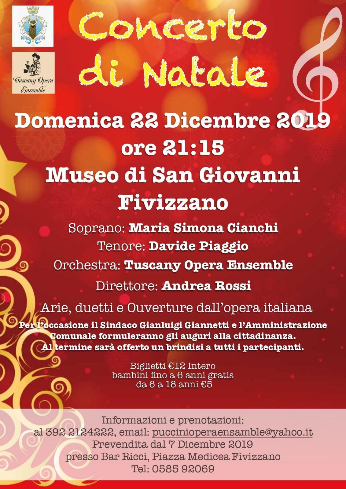 Auguri Di Natale Yahoo.Concerto Di Natale Fivizzano 2019 Visitlunigiana